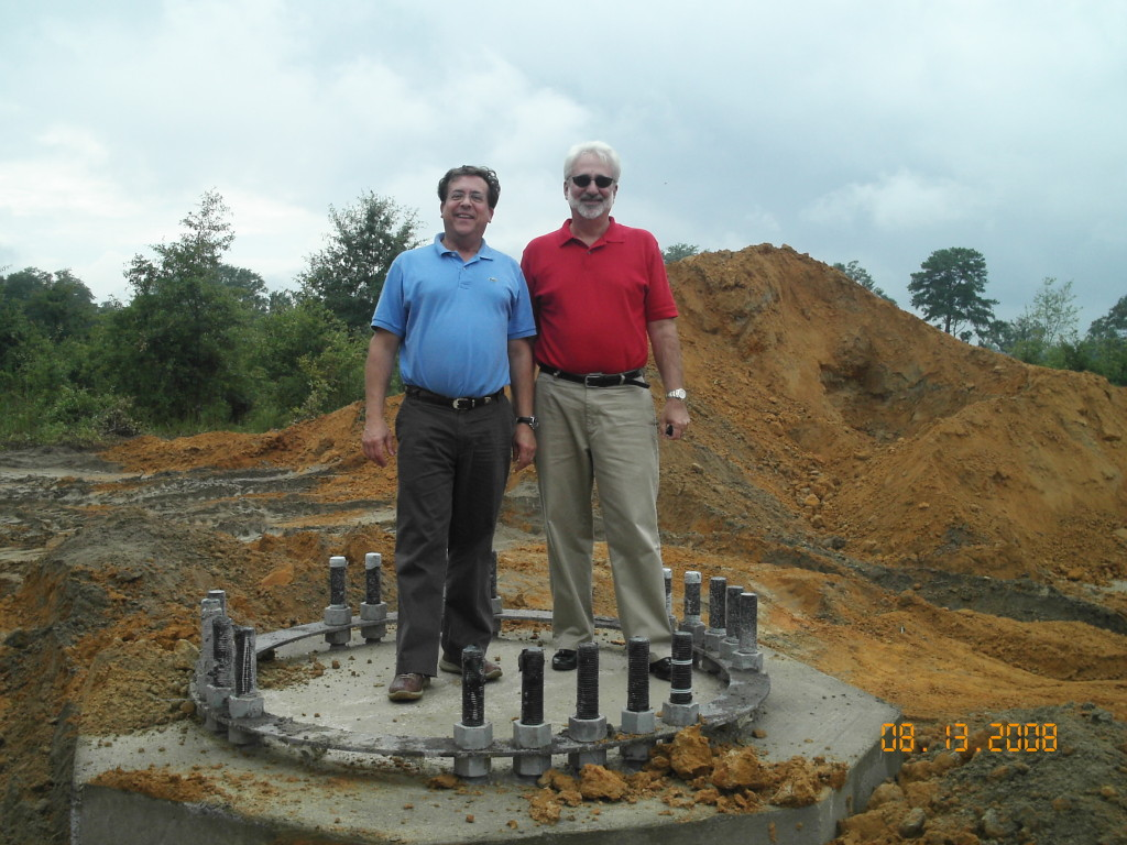 George and Eddie at Iron Gate site